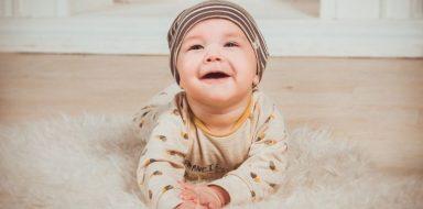 A happy baby.